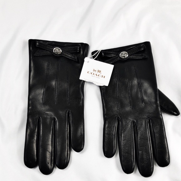 NWT Coach sheep leather REI I wool gloves